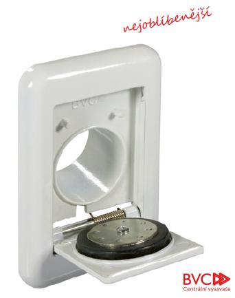 Zásuvka nástěnná hliníková bílá